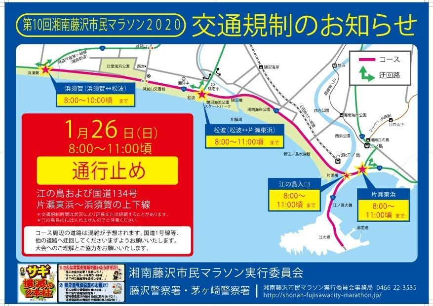 藤沢市民マラソン交通規制