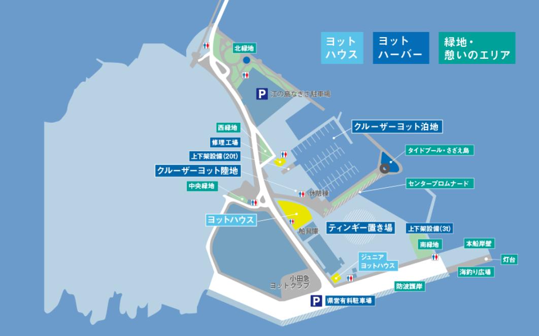 江ノ島ヨットハーバー地図