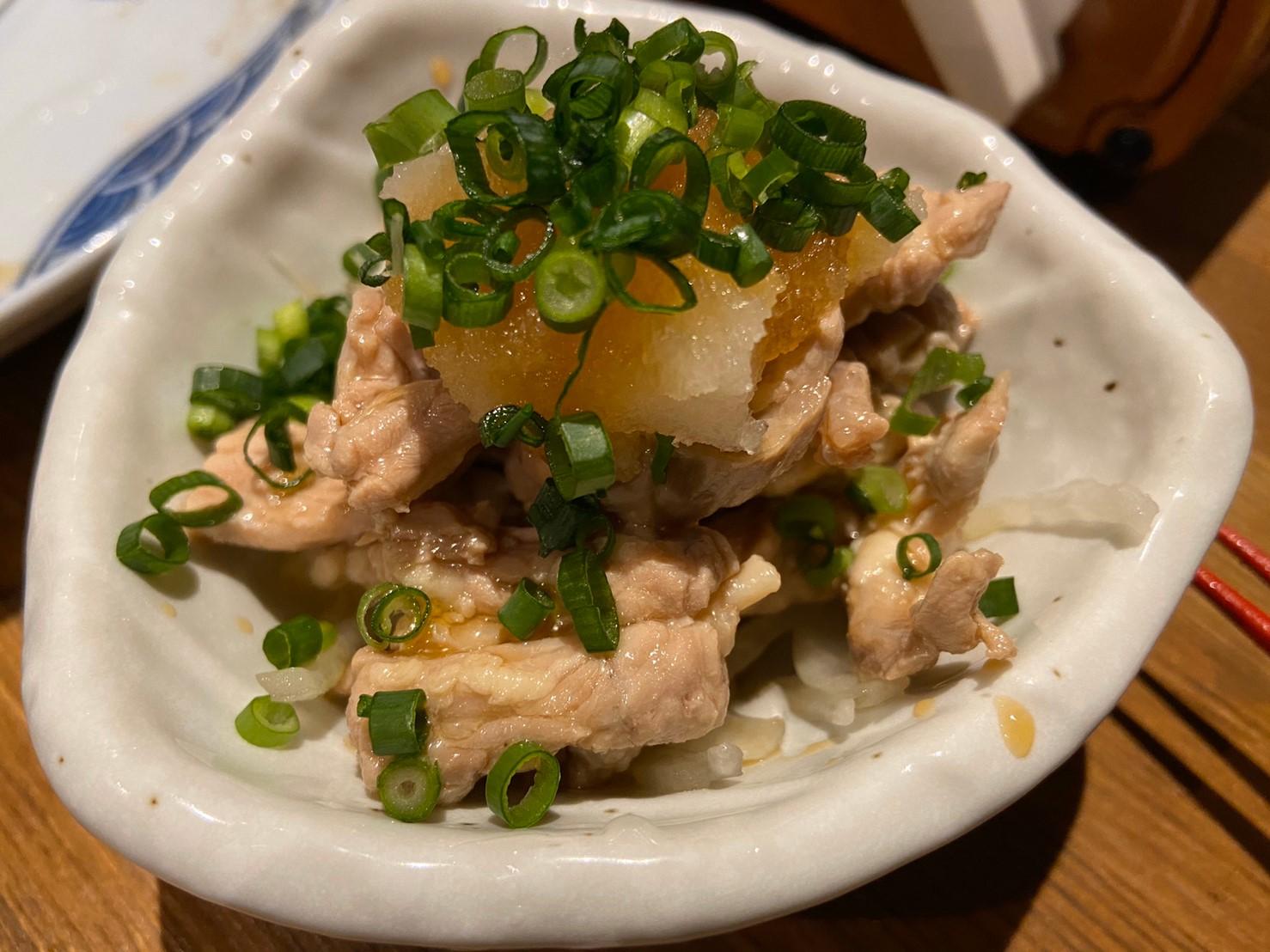 鶏せせりのおろしネギポン酢